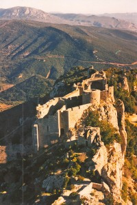 "The ""Cathar"" castle at Peyrepertuse"