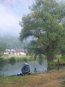 Fisherman on the river just north of Luchon