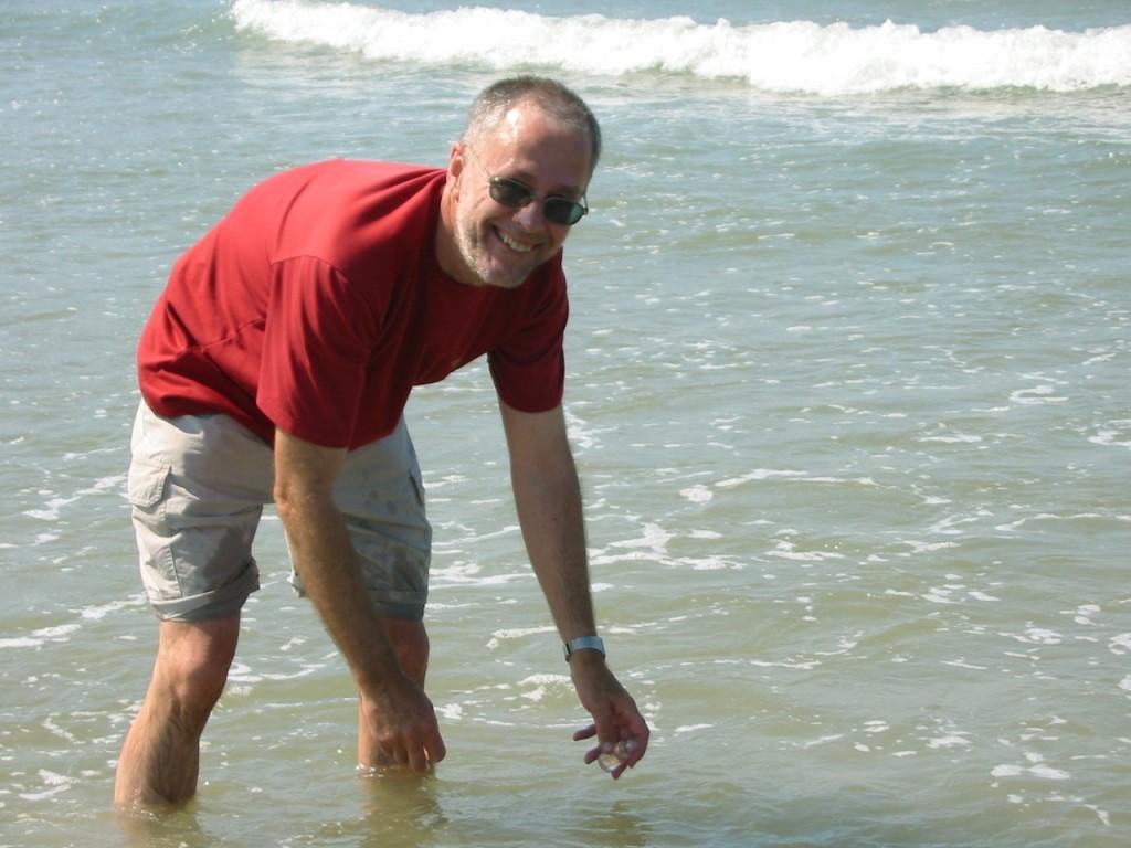 Sur la plage d'Hendaye – au début du GR10
