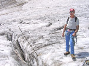 Our guide on the Vignemale glacier