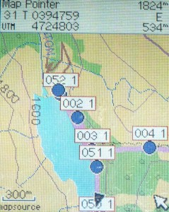 GPS with waypoints