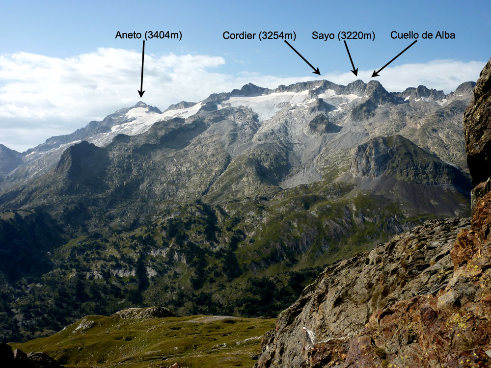 View south from the Col de Benasque (2444m)