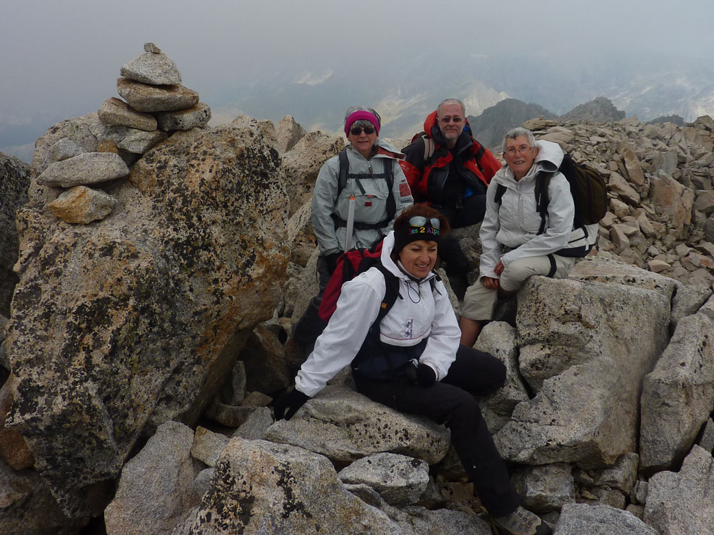 At the summit of the Pico Cordier – just us and a lot of rock