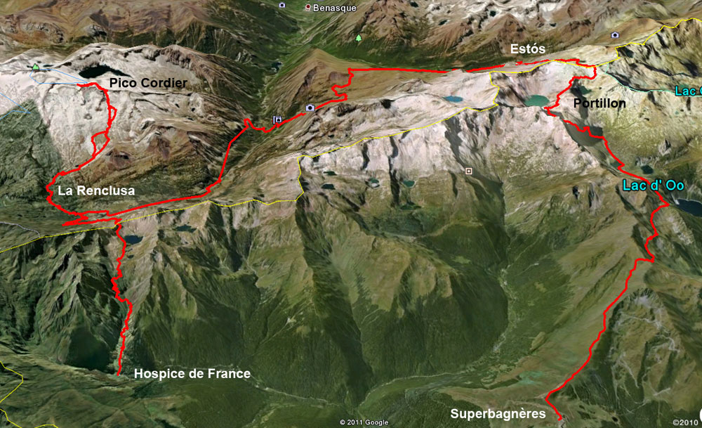 5-day near-circular walk on the French-Spanish border in the high Pyrenees