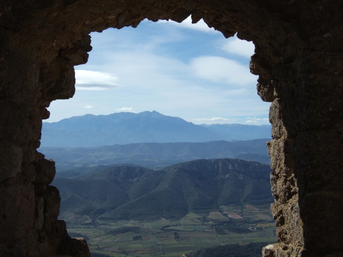 The Pyrenees seen from Quéribus castle (photo: Terry Cudbird)