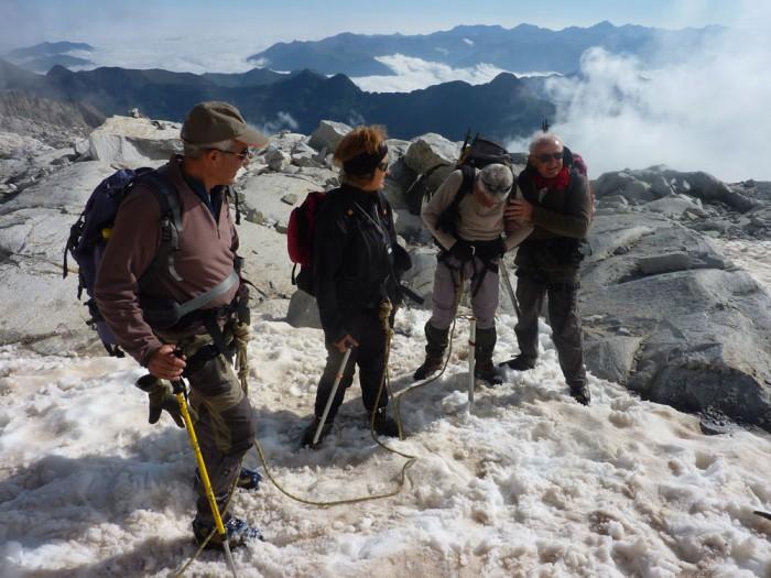 Sur le glacier de l'Aneto, 2012
