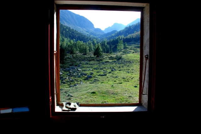 view from the window of the refuge at the Ras de la Carança