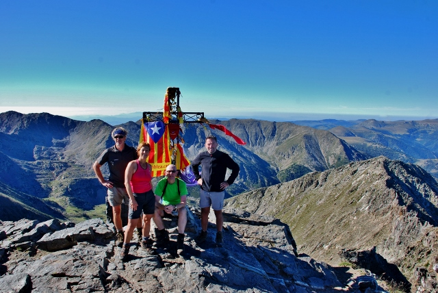 at the summit of Canigou