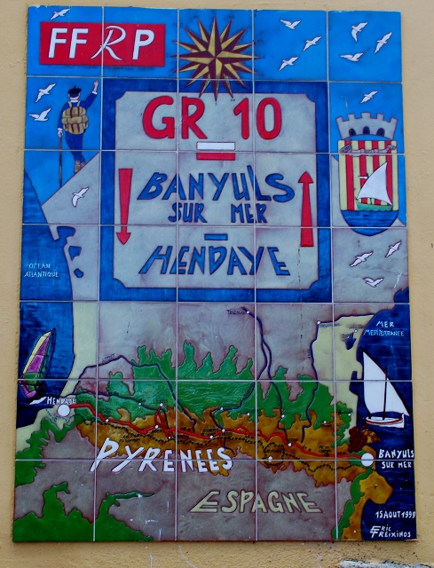 sign marking the end of the GR10 in Banyuls