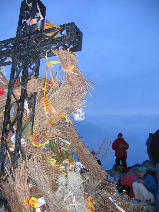 Midsummer's eve (23 June) at the summit of Canigou, Pyrenées-Orientales