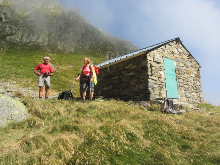 The Marterat hut at 2150m just below the pass