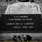 In memory of Quique and Celes, fallen for freedom. The plaque was added on the 50th anniversary of their deaths in an ambush as they tried to cross the border into France.