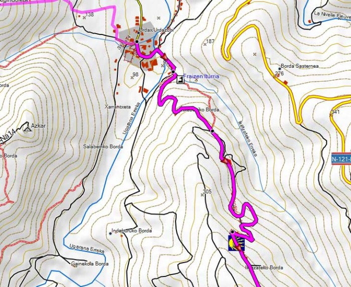 Free GPS map of the Pyrenees