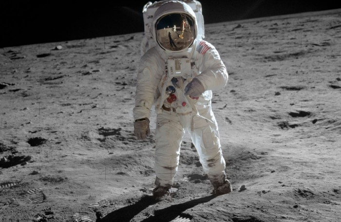 On the moon, treading lightly: Buzz Aldrin sets a good example