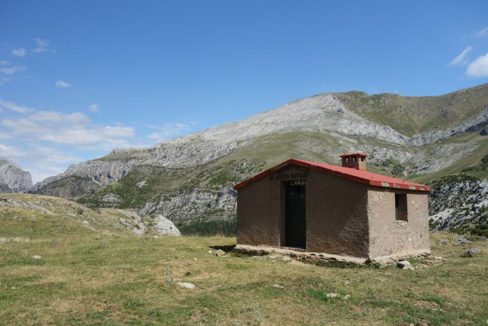 The Dios Te Salve hut (God saves you) on the plateau