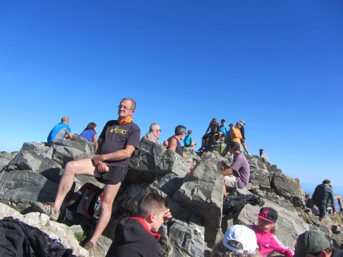 Canigó summit: often crowded