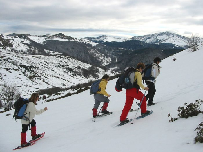 Snowshoeing near Chioula (Aude)