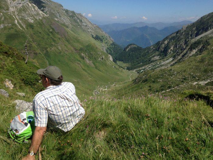 Vallée de Saleix, depuis le col, sur le GR10 entre Aulus et Marc