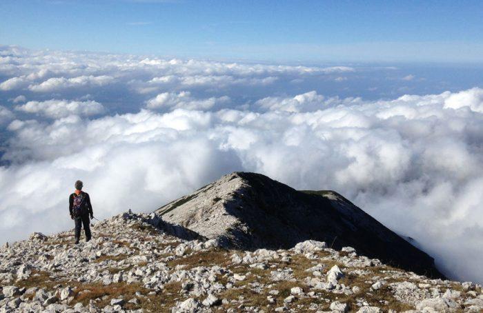 On Monte Amaro, 2793m above sea-level
