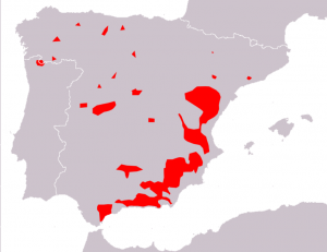 Distribution of Iberian ibex 2010