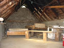 inside a shepherd's hut near the gorges de Kakouetta