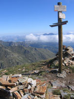 Crête de la Lhasse 2439m, between the Rulhe and Mérens hostels