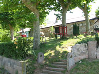 The hostel in Olhette is one day's walk from Hendaye, the start of the Pyrenean Way (GR10)