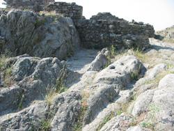 Roman cart track ruts on the French-Spanish border at Panissars