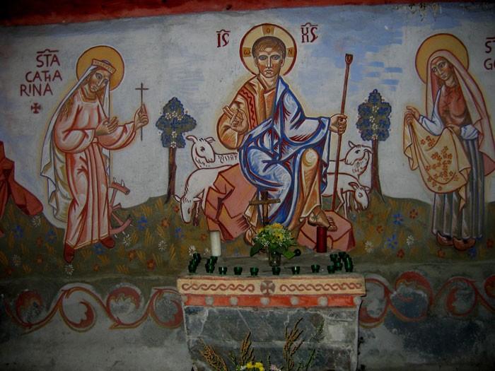 Granges d'Astau : Jésus le bon pasteur